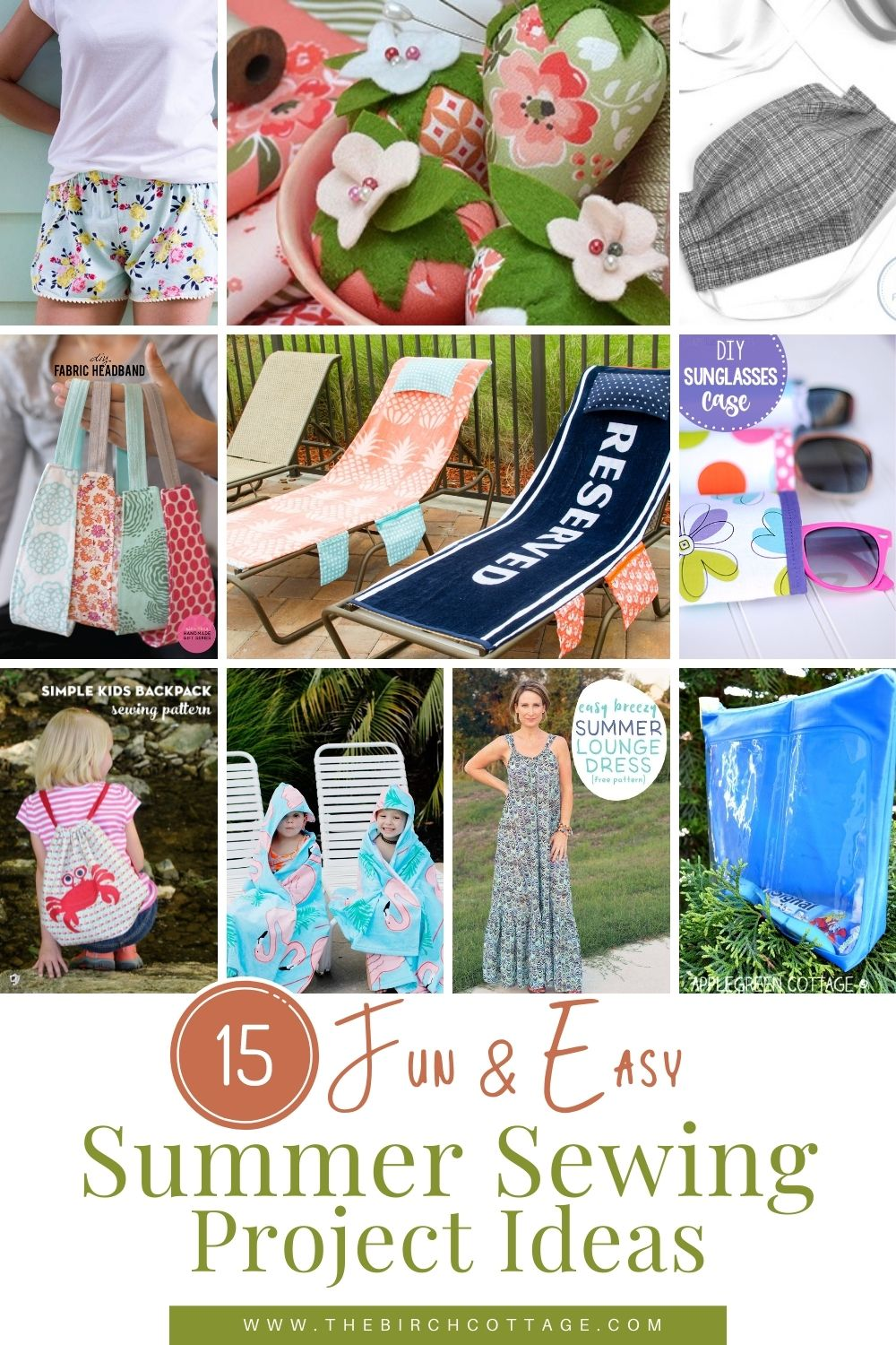 15 summer sewing projects