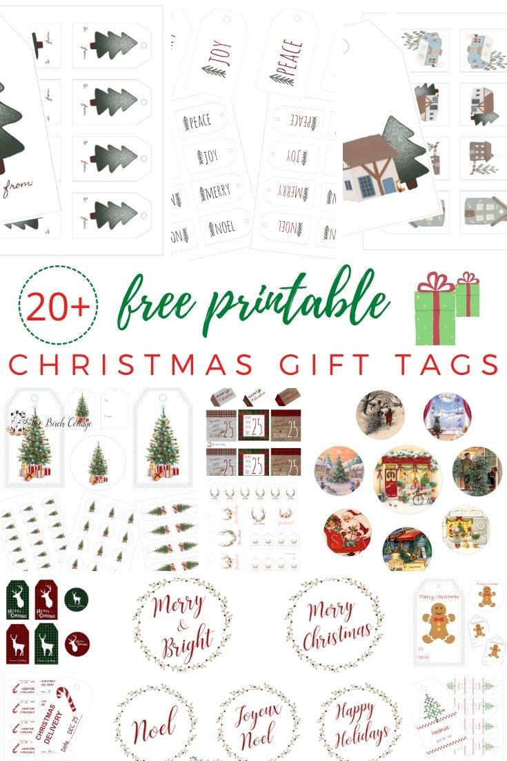 20 free printable Christmas gift tags
