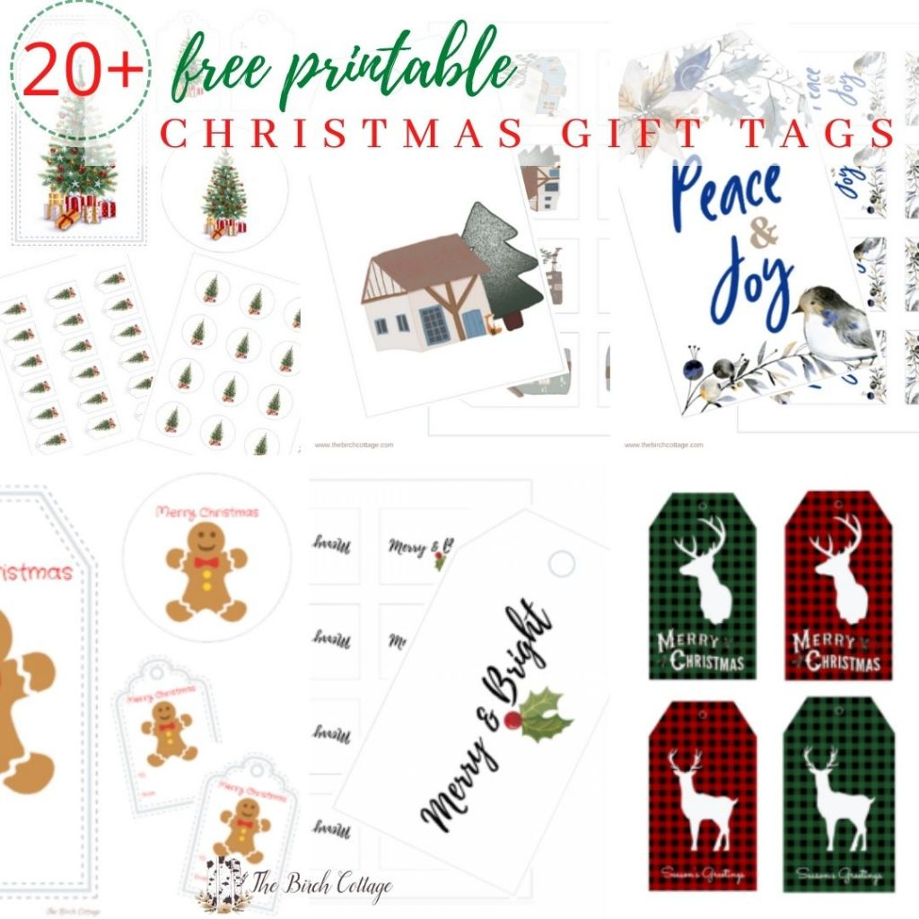 With a collection of over 20 free printable Christmas Gift Tags you're sure to find one or more designs for all your Christmas gift tag needs!