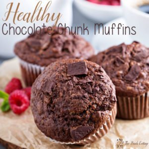 Healthy Chocolate Chunk Muffins!