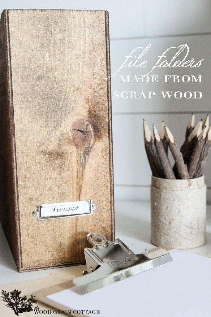 DIY Wood File Box