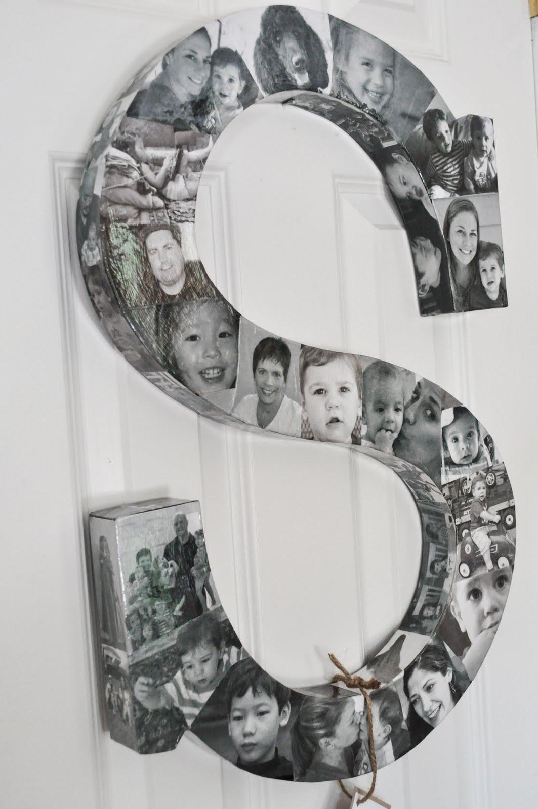 Photo Monogram Collage