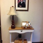 Refinish Furniture: Update an old console table using chalk paint by The Birch Cottage