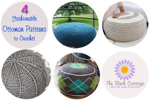 4 Fashionable Ottoman Patterns to Crochet