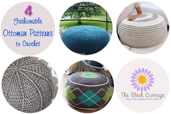 4 Fashionable Ottoman Patterns to Crochet