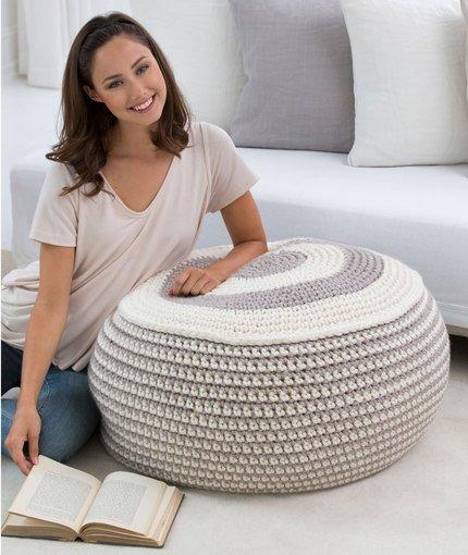 Crochet ottoman - Crochet pouf ottoman pattern free ...
