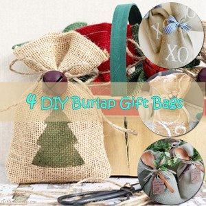 DIY Burlap Gift Bags