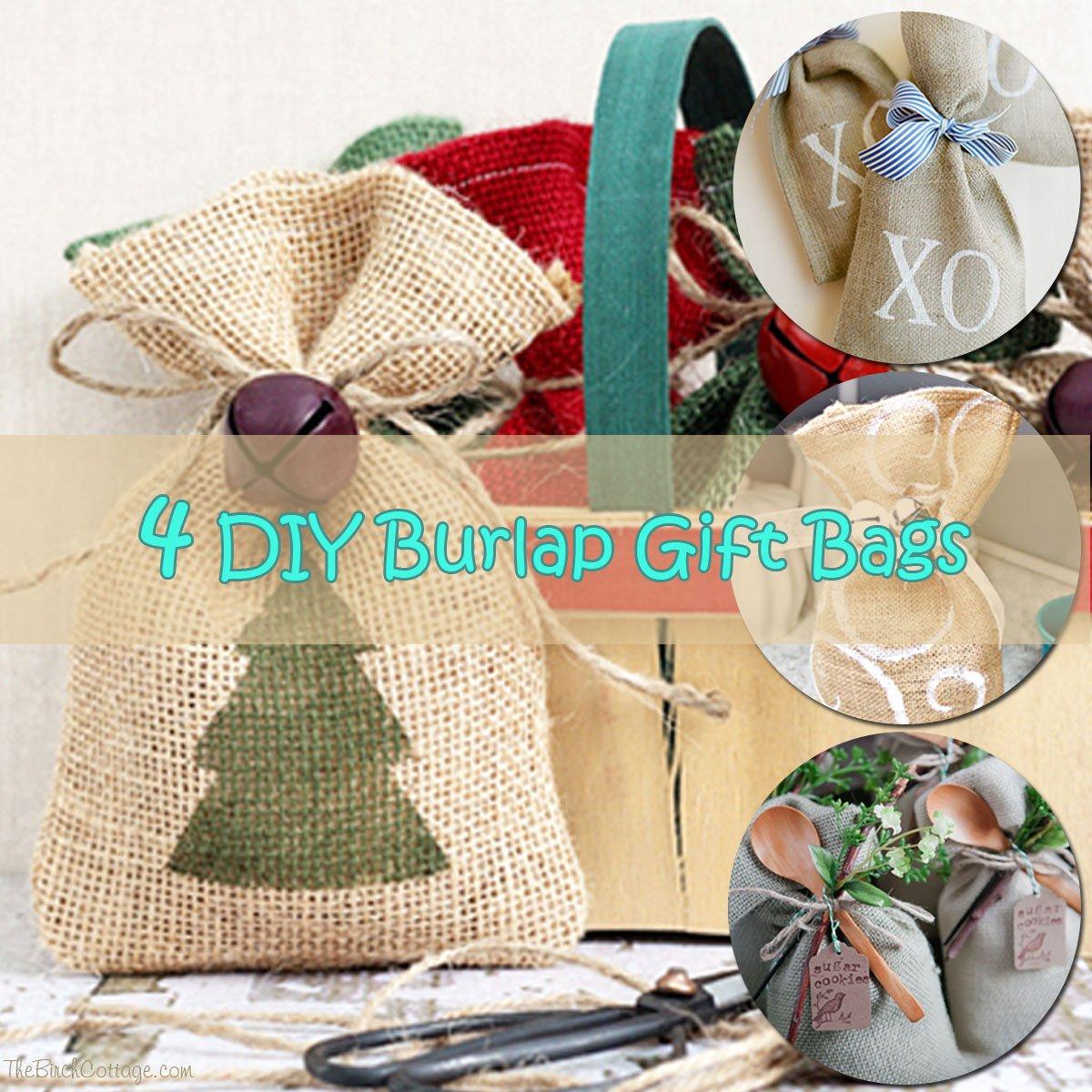 Diy Burlap Sack: DIY Burlap Gift Bags