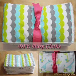 DIY Burp Cloths by The Birch Cottage