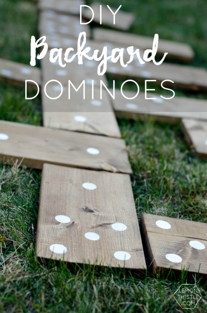 DIY Outdoor Yard Games - Dominoes