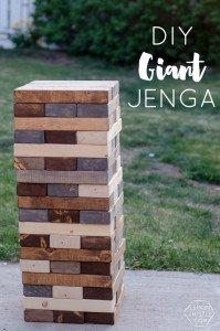 DIY Outdoor Yard Games - Jenga