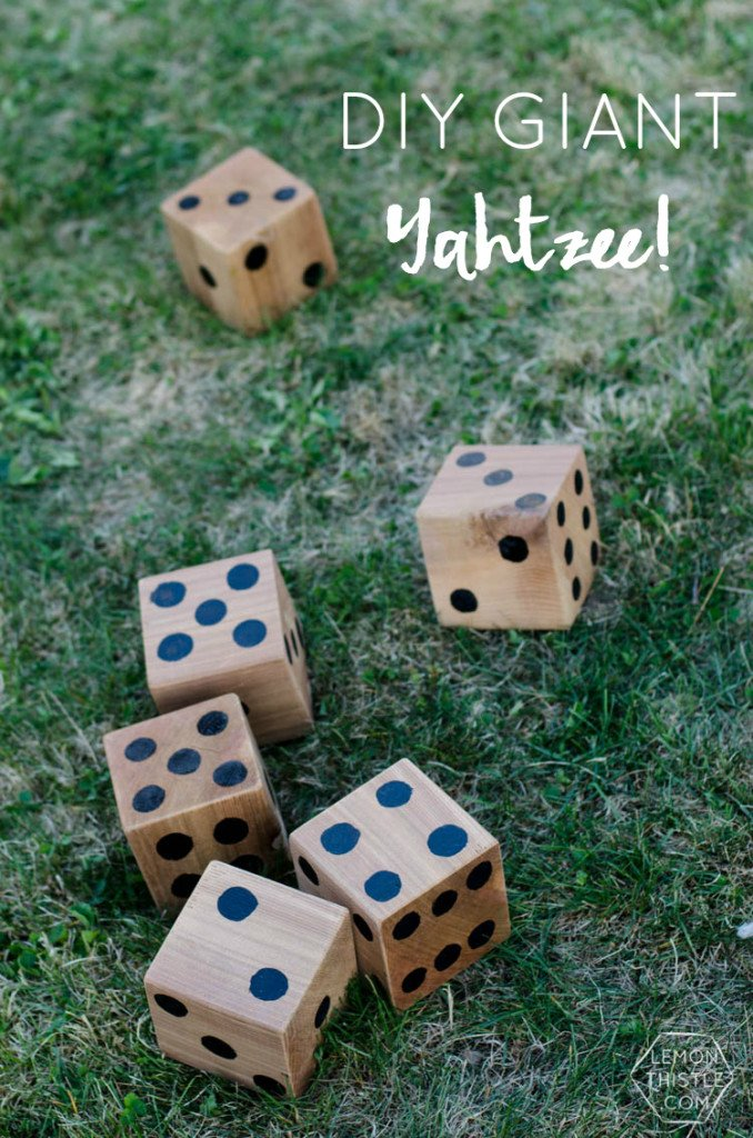 DIY Outdoor Yard Games - Yahtzee