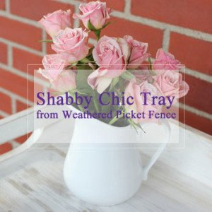 The Birch Cottage Shabby Chic Wood Tray from Weathered Picket Fence