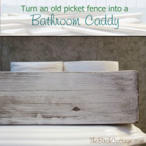 DIY Bathroom Caddy