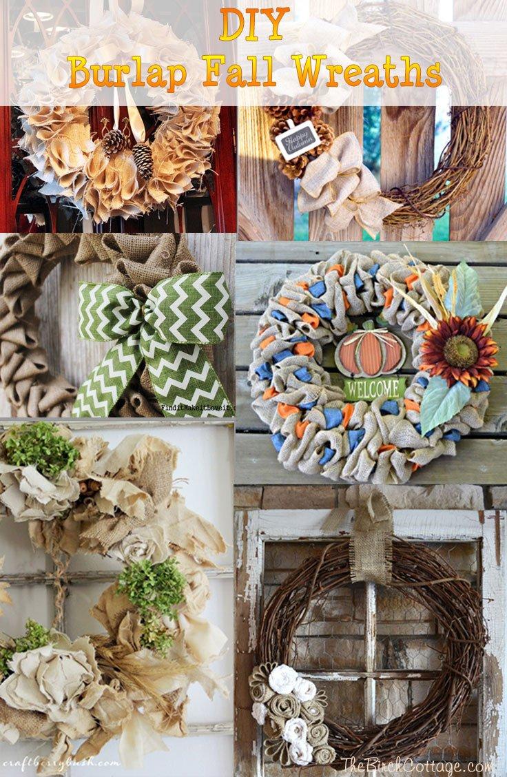 DIY Fall Burlap Wreaths