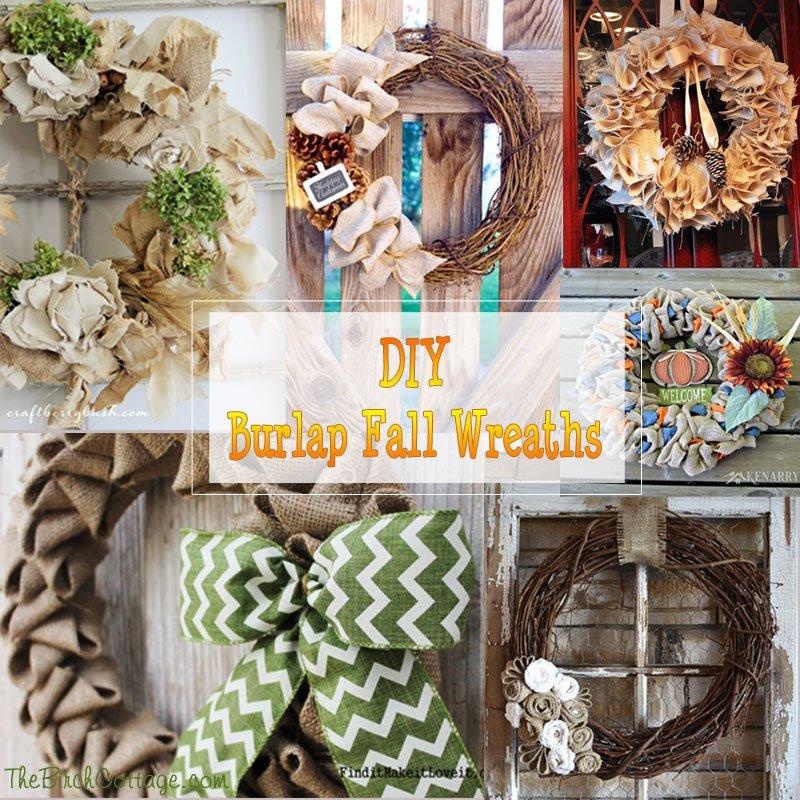 DIY Burlap Fall Wreaths