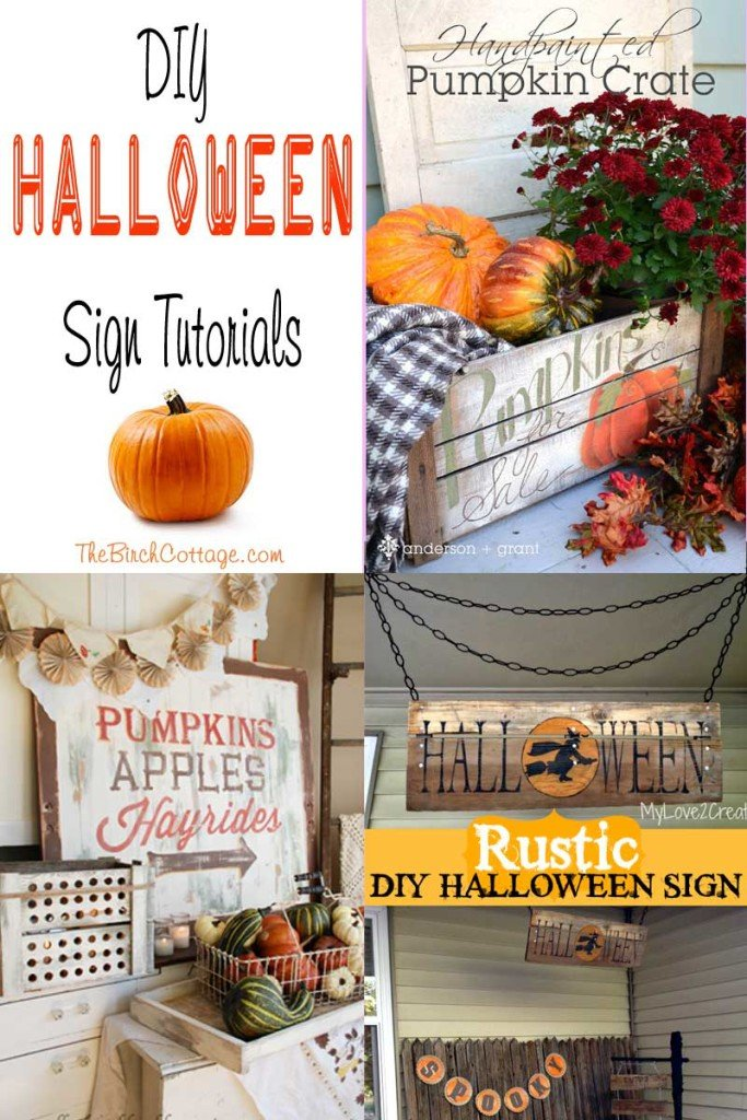 DIY Halloween Sign Tutorial by The Birch Cottage