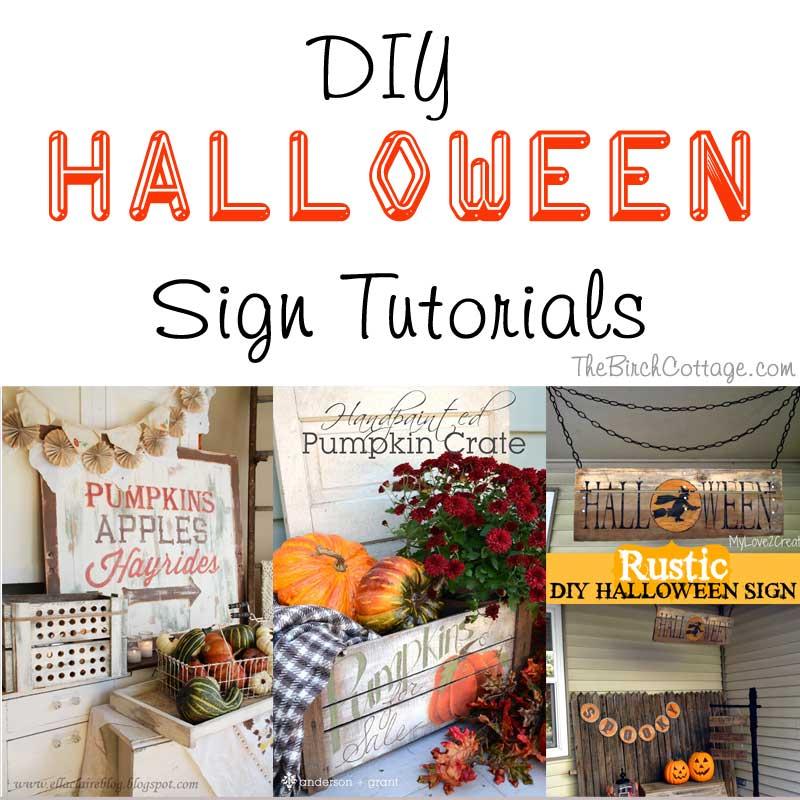 DIY Halloween Sign Tutorials by The Birch Cottage