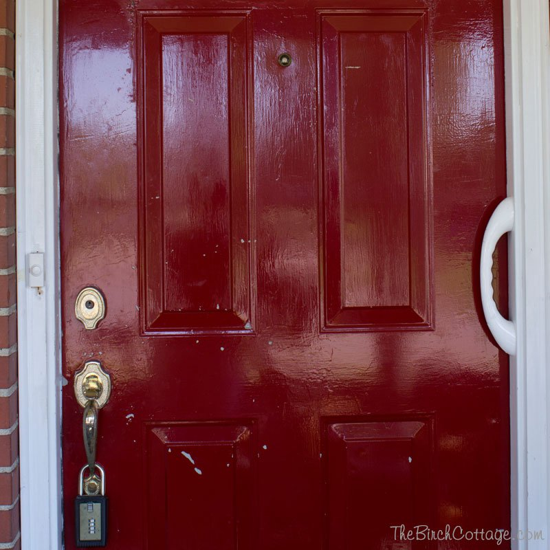 Our front door gets a fresh coat of paint on The Birch Cottage blog!