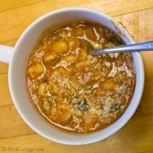 Crockpot Tuscan Soup by The Birch Cottage
