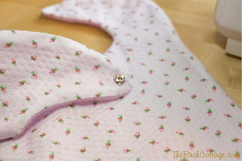 Easy Sew Reversible Baby Bibs by The Birch Cottage