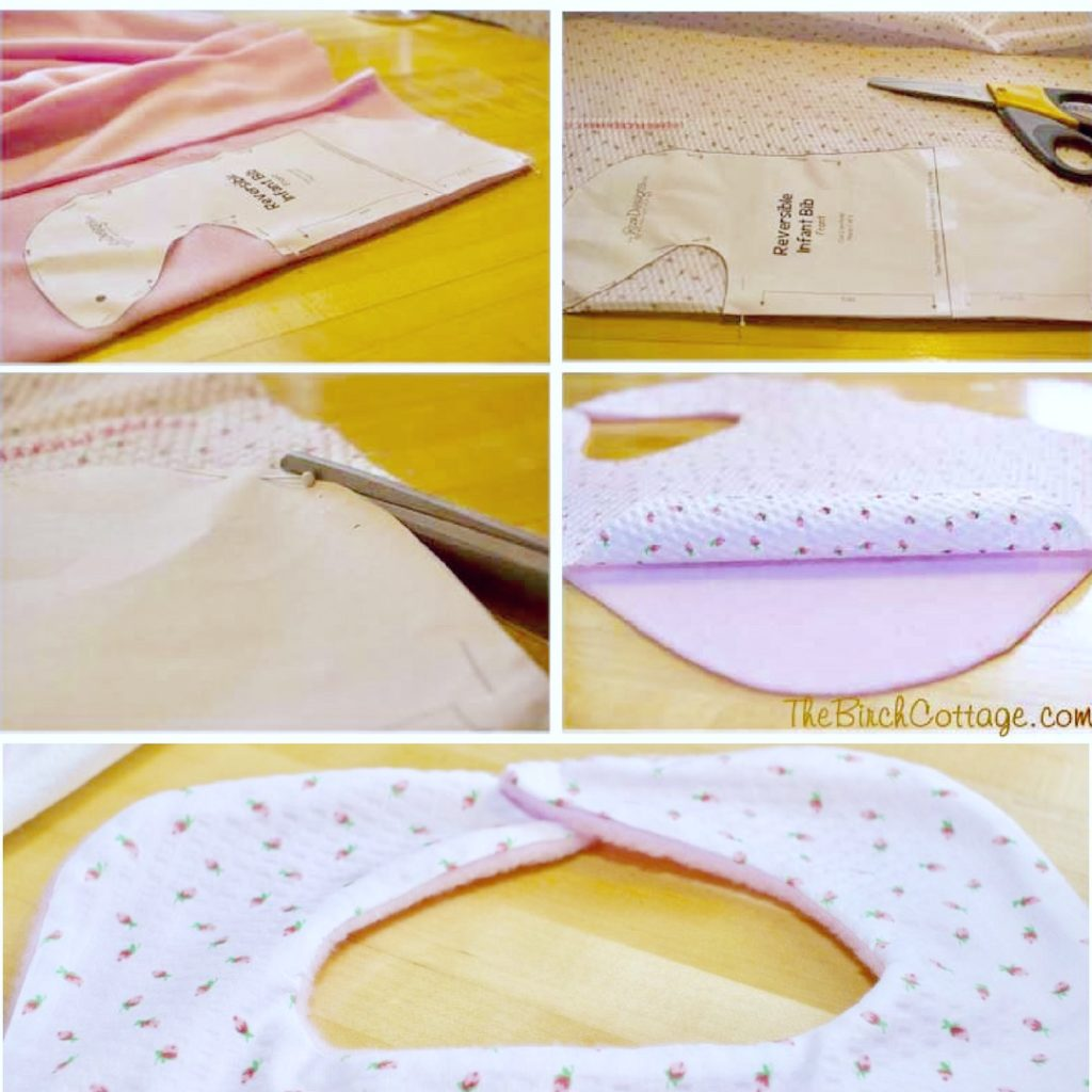 Learn to make these easy sew reversible baby bibs