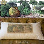 Fall Burlap Give Thanks Pillow Cover Tutorial from The Birch Cottage