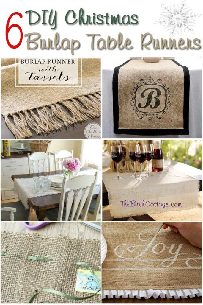 DIY Christmas Burlap Table Runners
