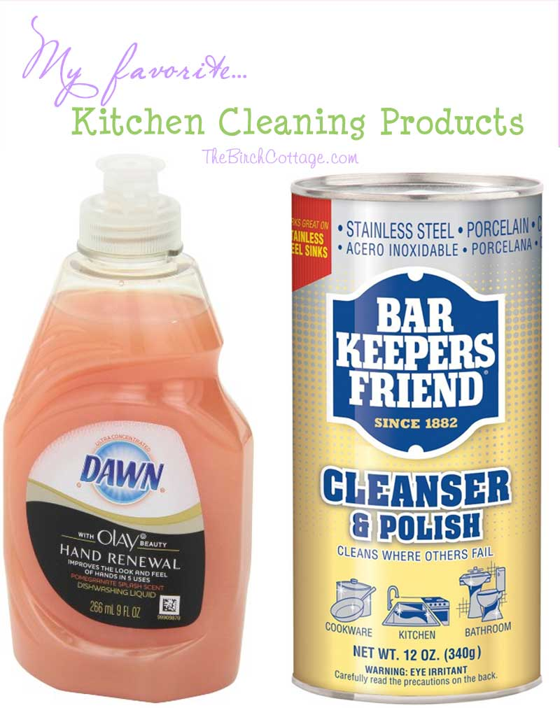 A few of my favorite things for the kitchen includes cleaning supplies