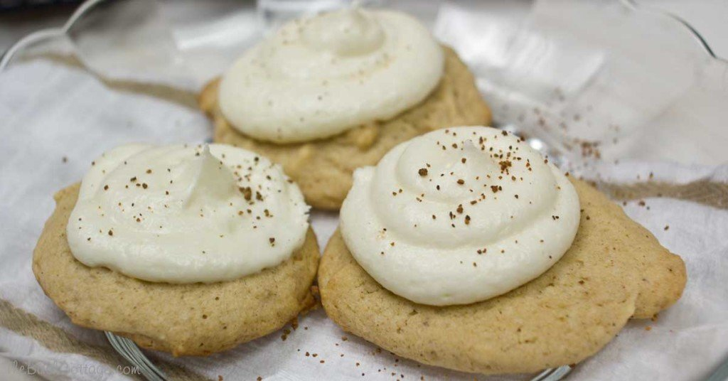 Super Soft Egg Nog Cookies by The Birch Cottage