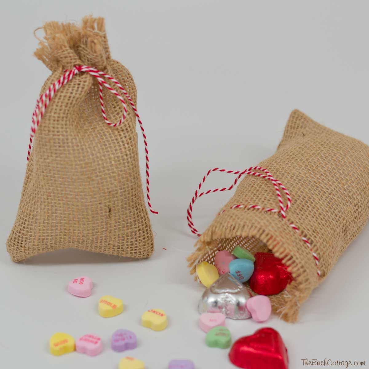 Diy Burlap Sack: DIY Burlap Valentine's Day Treat Bags
