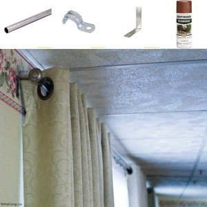 A really cheap way to make a DIY Curtain Rod.