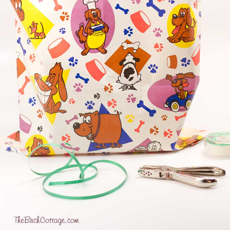 A DIY tutorial on How to make gift bags from wrapping paper from The Birch Cottage.