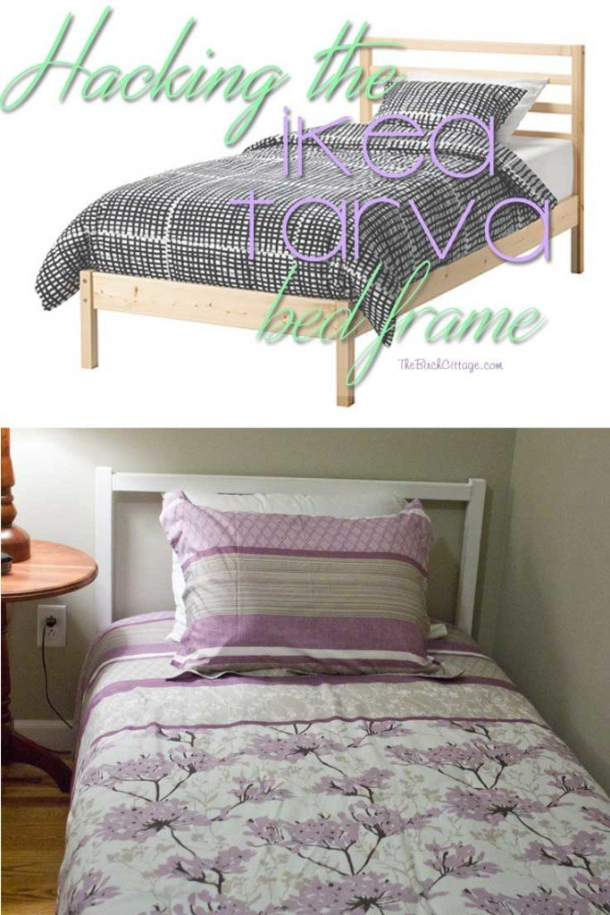 An IKEA Tarva Bed Hack - The Birch Cottage