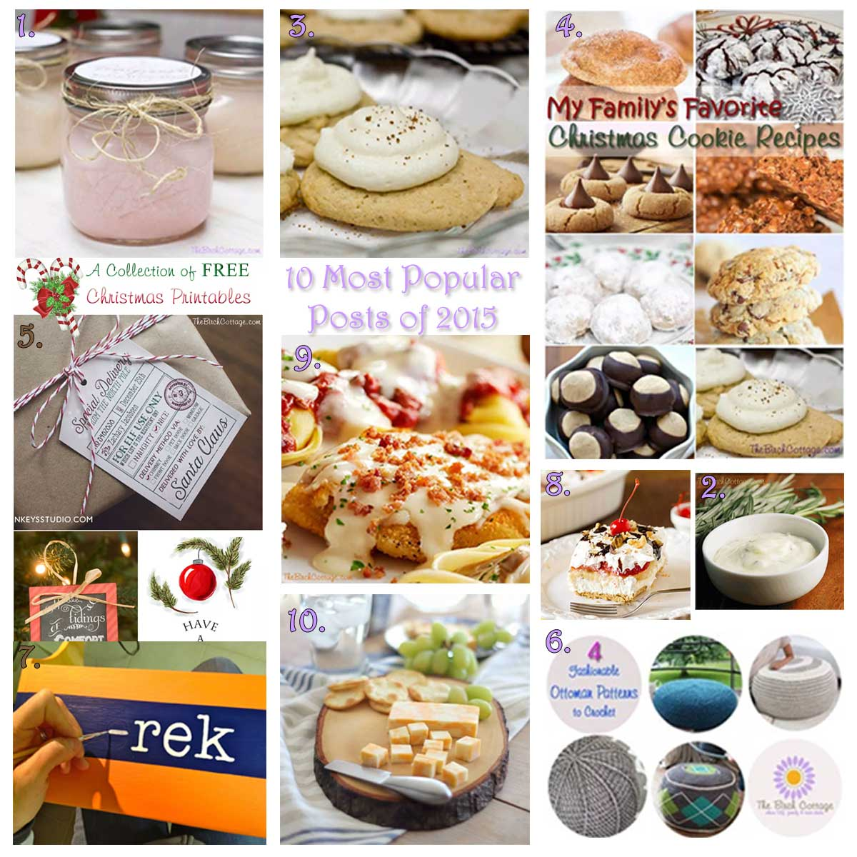 Most Popular Posts of 2015 for the Birch Cottage blog.