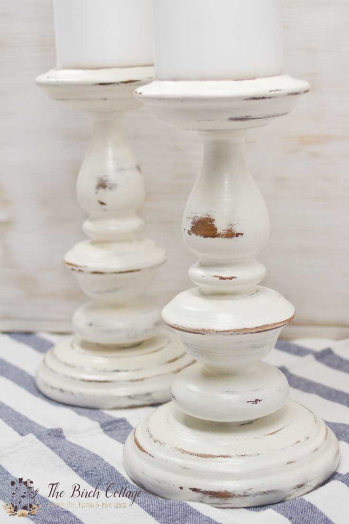 Give new life to old candlesticks with chalk paint by The Birch Cottage