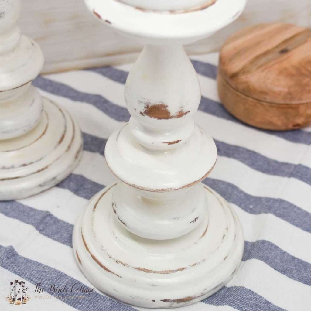 Give new life to candlesticks with chalk paint by The Birch Cottage. Saved literally from the ashes of the fireplace, chalk paint worked magic on these candlesticks.