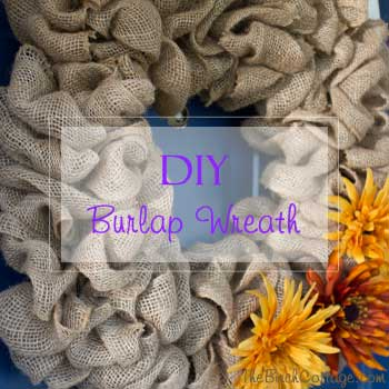 DIY Fall Burlap Wreath is The Birch Cottage's most popular DIY project of 2015
