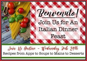Italian Dinner Feast Blog Hop