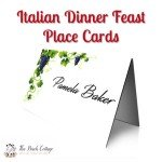 These Italian themed place card printables will add the perfect touch to your Italian Dinner Feast!