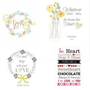 Sharing Four of My Favorite Valentine's Day Printables