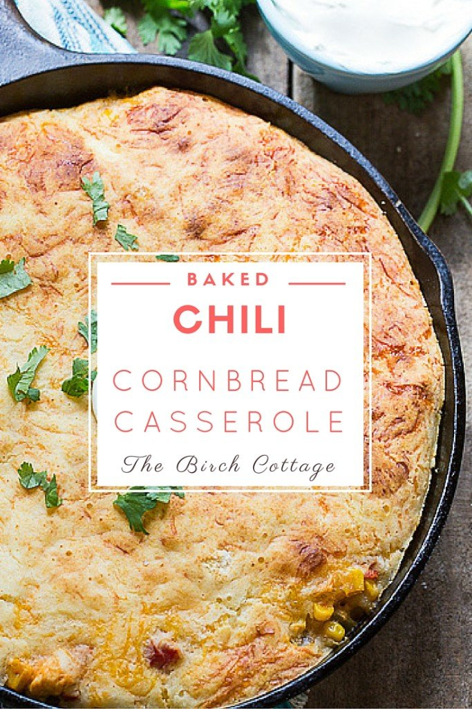Baked Chili Cornbread Casserole is the perfect cold weather comfort food recipe.