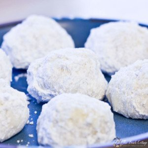Russian Tea Cakes are full of buttery, pecans and coated in powdered sugar goodness. Get the recipe at The Birch Cottage.