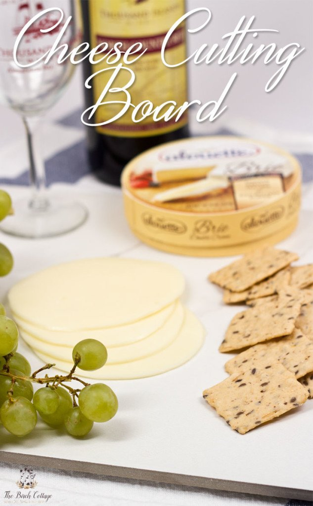 How to make cheese cutting boards from ceramic tile by The Birch Cottage