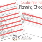 7 Tips for a Less Stressful Graduation Party with a Graduation Party Planning Checklist from The Birch Cottage