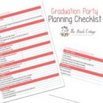 Graduation Party Planning printable will keep you on track and remove the stress from your party planning. Free download by The Birch Cottage.
