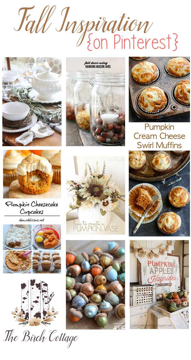 Fall Decor and Recipe Ideas on Pinterest by The Birch Cottage