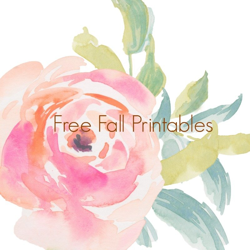 A Collection of Free Fall Printables by The Birch Cottage