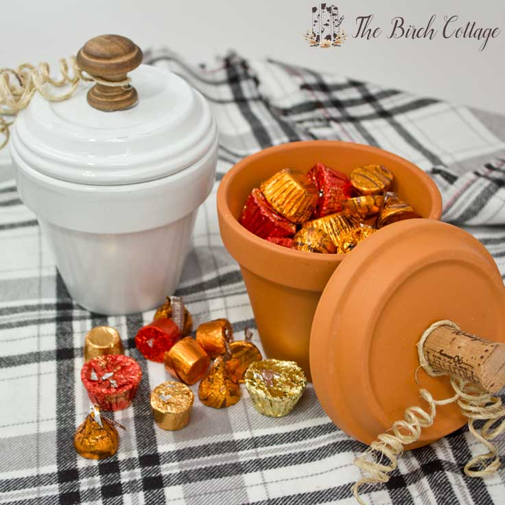 DIY Terra Cotta Pot Candy Dishes