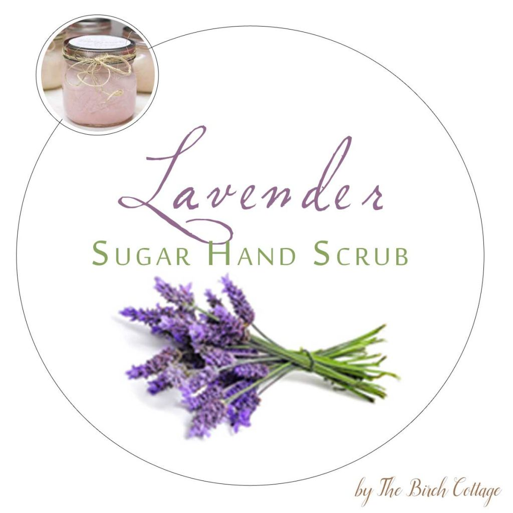 DIY Sugar Hand Scrub Printable Labels for large mouth Mason Jars by The Birch Cottage. Using Dawn Ultra Hand Renewal with Olay Lavender and sugar to make this sugar hand scrub, print labels for the perfect gift!